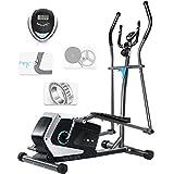 ISE Vélo elliptique d'appartement Magnétique Crosstrainer Adulte, écran LCD, Pulsomètre, 8...
